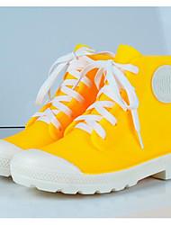 preiswerte -Damen Schuhe PVC Leder Frühling Sommer Regenstiefel Stiefel Walking Niedriger Heel Geschlossene Spitze Booties / Stiefeletten Rot / Blau / Rosa