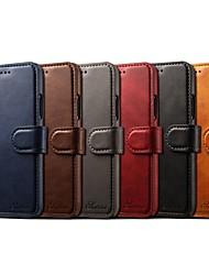 economico -Custodia Per Apple iPhone X / iPhone 7 Porta-carte di credito / A portafoglio / Con supporto Integrale Tinta unita Resistente pelle