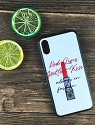 Недорогие -Кейс для Назначение Apple iPhone X / iPhone 8 Plus Защита от удара / Матовое / С узором Кейс на заднюю панель Слова / выражения Твердый ПК для iPhone X / iPhone 8 Pluss / iPhone 8