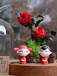 abordables -Fleurs artificielles 1 Une succursale Oriental Fleurs éternelles Fleur de Table