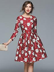 povoljno -Žene Vintage / Sofisticirano A kroj Haljina Cvjetni print Do koljena