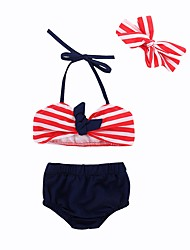 cheap -Toddler / Infant Girls' Striped / Print Swimwear
