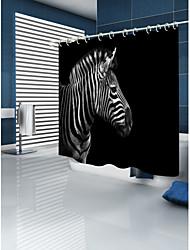 cheap -Shower Curtains & Hooks Contemporary Modern Polyester 3D Machine Made Waterproof Bathroom