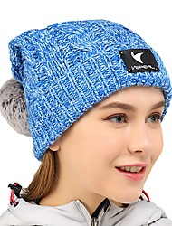 cheap -VEPEAL Hat Winter Keep Warm / Stretchy Hiking / Traveling / Winter Sports Women's Acrylic Solid Colored