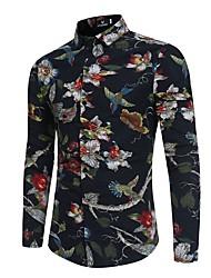 cheap -Men's Shirt - Floral / Color Block / Animal Print