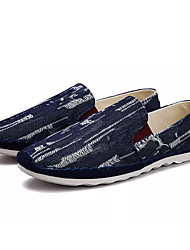 cheap -Men's Fabric Spring / Summer Comfort Sneakers Black / Dark Blue / Light Blue