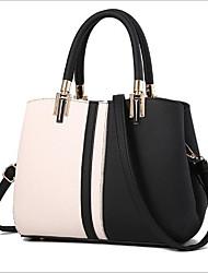 cheap -Women's Bags PU Tote Buttons / Zipper Blushing Pink / Purple / Khaki