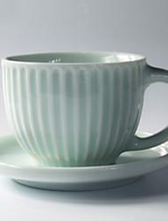 povoljno -Drinkware Porculan Kup i tanjur Toplinski izolirani 1pcs