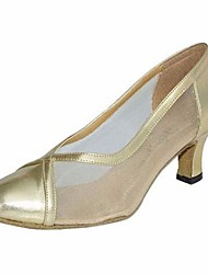 cheap -Women's Modern Shoes PU(Polyurethane) Heel Stiletto Heel Dance Shoes Gold / Silver / Performance / Practice