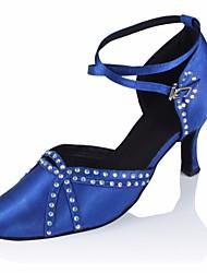 cheap -Women's Modern Shoes Silk Heel Performance / Practice Stiletto Heel Dance Shoes Black / Blue