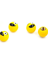cheap -4pcs Car Valve Cap Cartoon Buckle Type For Car Wheel For universal All Models All years