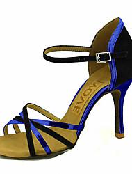 abordables -Femme Chaussures Latines / Chaussures de Salsa Velours Sandale / Talon Boucle / Ruban Talon Personnalisé Personnalisables Chaussures de danse Rouge / Bleu / Rose / Utilisation / Professionnel
