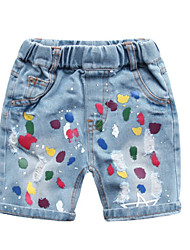 cheap -Toddler Unisex Geometric / Color Block Jeans