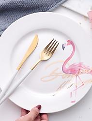 abordables -1 pièce Porcelaine Résistant à la chaleur / Créatif Assiettes, Vaisselle