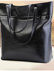 cheap -Women's Bags PU Tote Zipper Red / Dark Green / Brown