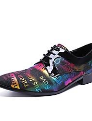 Недорогие -Муж. Обувь для новинок Наппа Leather Осень Туфли на шнуровке Для прогулок Цвет радуги / Для вечеринки / ужина