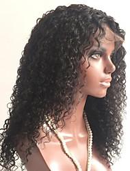 Недорогие -Необработанные Парик Монгольские волосы Кудрявый Стрижка каскад 130% плотность С детскими волосами Для темнокожих женщин Черный Короткие