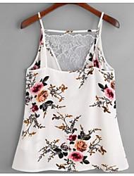 abordables -Mujer Vintage Borla / Acordonado Tank Tops Un Color / Geométrico Blanco y Negro