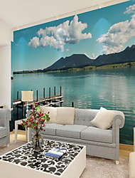 cheap -Wallpaper / Mural Canvas Wall Covering - Adhesive required Print / Art Deco / 3D