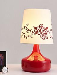 Недорогие -Художественный / Модерн Декоративная Настольная лампа Назначение В помещении Стекло 220-240Вольт Красный / Лиловый
