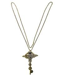 Недорогие -Ожерелья с подвесками  -  Ключи, Шестерня Винтаж, европейский, Steampunk Коричневый 70 cm Ожерелье Назначение Подарок, Повседневные