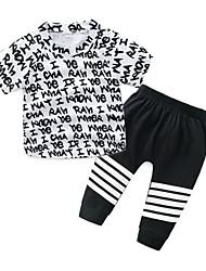 Недорогие -малыш Мальчики С принтом С короткими рукавами Набор одежды