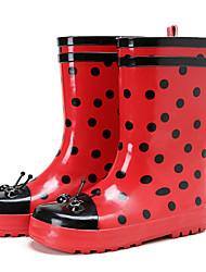 Недорогие -Девочки Обувь Резина Весна лето Резиновые сапоги Ботинки для Красный