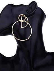 baratos -Mulheres Brincos Curtos - Metálico / Fashion Dourado / Prata / Ouro Rose Forma Geométrica Brincos Para Festa / Noite / Presente