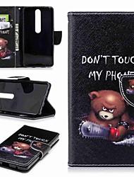 Недорогие -Кейс для Назначение Nokia Nokia 6 2018 Nokia 5 Бумажник для карт Кошелек со стендом Флип С узором Чехол Слова / выражения Твердый Кожа PU