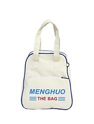 cheap -Women's Bags Oxford Cloth Shoulder Bag Zipper White / Black / Yellow