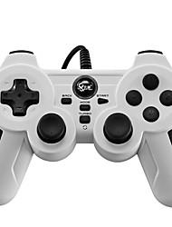 baratos -BTP-2163X Com Fio Controladores de jogos Para Sony PS3 / PC Vibração Controladores de jogos ABS 1pcs unidade USB 2.0
