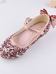 cheap -Girls' Shoes PU Spring Comfort Sandals Sequin Magic Tape for Outdoor Gold Silver Pink