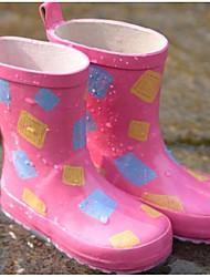 baratos -Para Meninas Sapatos Borracha Primavera Verão Botas de Chuva Botas para Ao ar livre Azul / Rosa claro