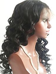 abordables -Cabello Virgen Encaje Completo Peluca Cabello Brasileño Ondulado Peluca Corte a capas 150% Con Baby Hair / Para mujeres de color Negro Mujer Corta / Larga / Longitud Media Pelucas de Cabello Natural