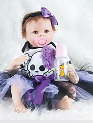 abordables -Poupées Reborn Bébés Fille 22pouce Silicone Unisexe Pour enfants Cadeau