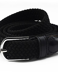 cheap -Women's 75g / m2 Polyester Knit Stretch / Leather / Alloy Skinny Belt - Solid Colored