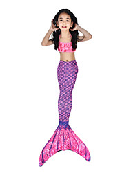 cheap -The Little Mermaid Swimwear / Bikini / Costume Women's Halloween / Carnival Festival / Holiday Halloween Costumes Purple Vintage Mermaid