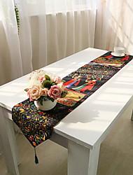 baratos -Moderna PVC / Algodão Quadrada Toalhas Finas de Mesa Padrão Decorações de mesa 1 pcs