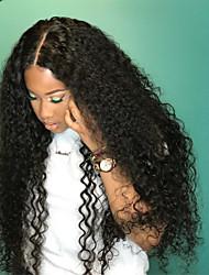 cheap -Remy Human Hair Lace Front Wig Brazilian Hair Curly Wig 180% 100% Virgin Women's Long Human Hair Lace Wig