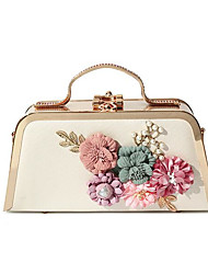 cheap -Women's Bags PU Leather Evening Bag Flower for Event / Party Black / Blushing Pink / Purple