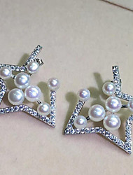 cheap -Women's Stud Earrings - S925 Sterling Silver, Freshwater Pearl Star Simple, Natural, Fashion Silver For Gift / Daily