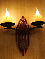 baratos -Novo Design Retro / Vintage Luminárias de parede Sala de Estar / Quarto Resina Luz de parede 220-240V 20 W / E14