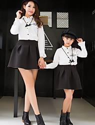 cheap -Adults / Kids Girls' Color Block Long Sleeve Blouse