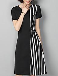 cheap -Women's Cotton / Acrylic Slim Sheath / Little Black Dress