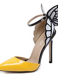 baratos -Mulheres Sapatos Couro Ecológico / Sintético Primavera Verão Plataforma Básica / D'Orsay Saltos Salto Agulha Dedo Apontado Laço / Estampa