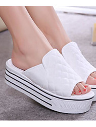 cheap -Women's Shoes Fabric Summer Comfort Slippers & Flip-Flops Creepers White / Gray