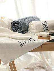 Недорогие -Высшее качество Полотенца для мытья, Однотонный Полиэстер / Хлопок / 100% хлопок 1 pcs