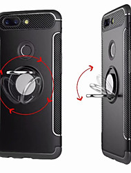 economico -Custodia Per OnePlus 5 / OnePlus 5T Supporto ad anello Per retro Tinta unita Resistente PC per One Plus 5 / OnePlus 5T