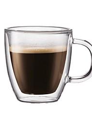 Недорогие -Drinkware Высокое боровое стекло Чайные чашки / Стекло сохраняющий тепло / Теплоизолированные / Boyfriend Подарок 1pcs