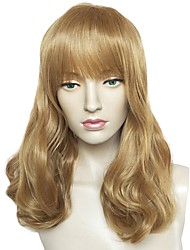 cheap -Wig Accessories / Synthetic Wig Wavy Layered Haircut Synthetic Hair Cute / Heat Resistant / Party Brown Wig Women's Long Capless